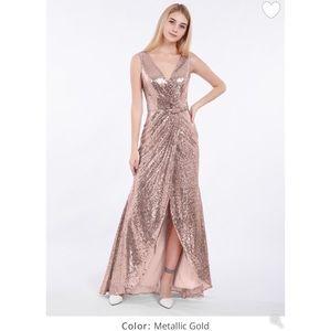 Babaroni Ciel Short Front Long Back Sequin Dress